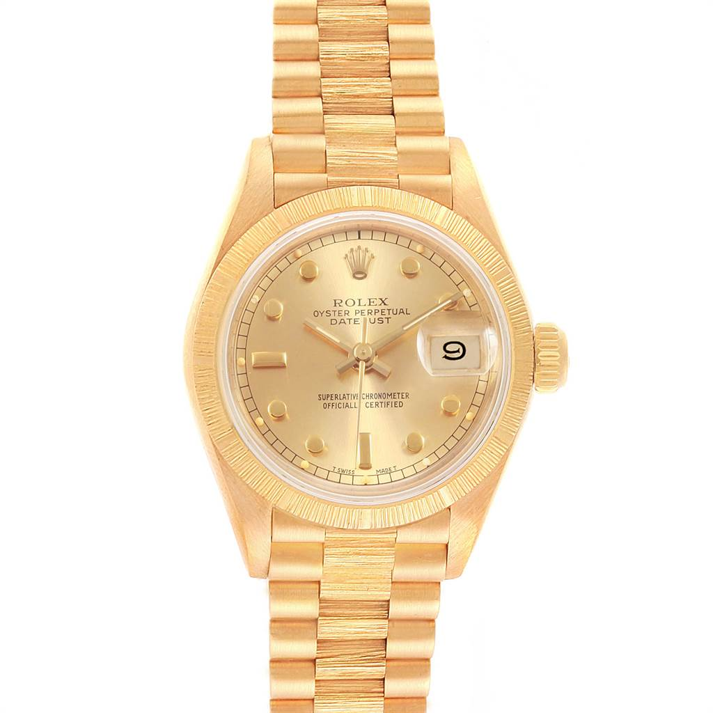 21013 Rolex President Datejust 26mm 18K Yellow Gold Ladies Watch 69278 SwissWatchExpo