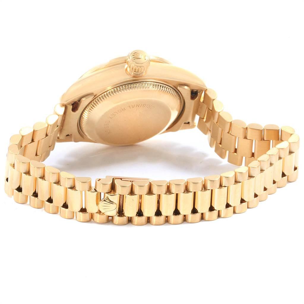 18681A Rolex President Datejust 26 Yellow Gold Diamond Ladies Watch 69138 SwissWatchExpo