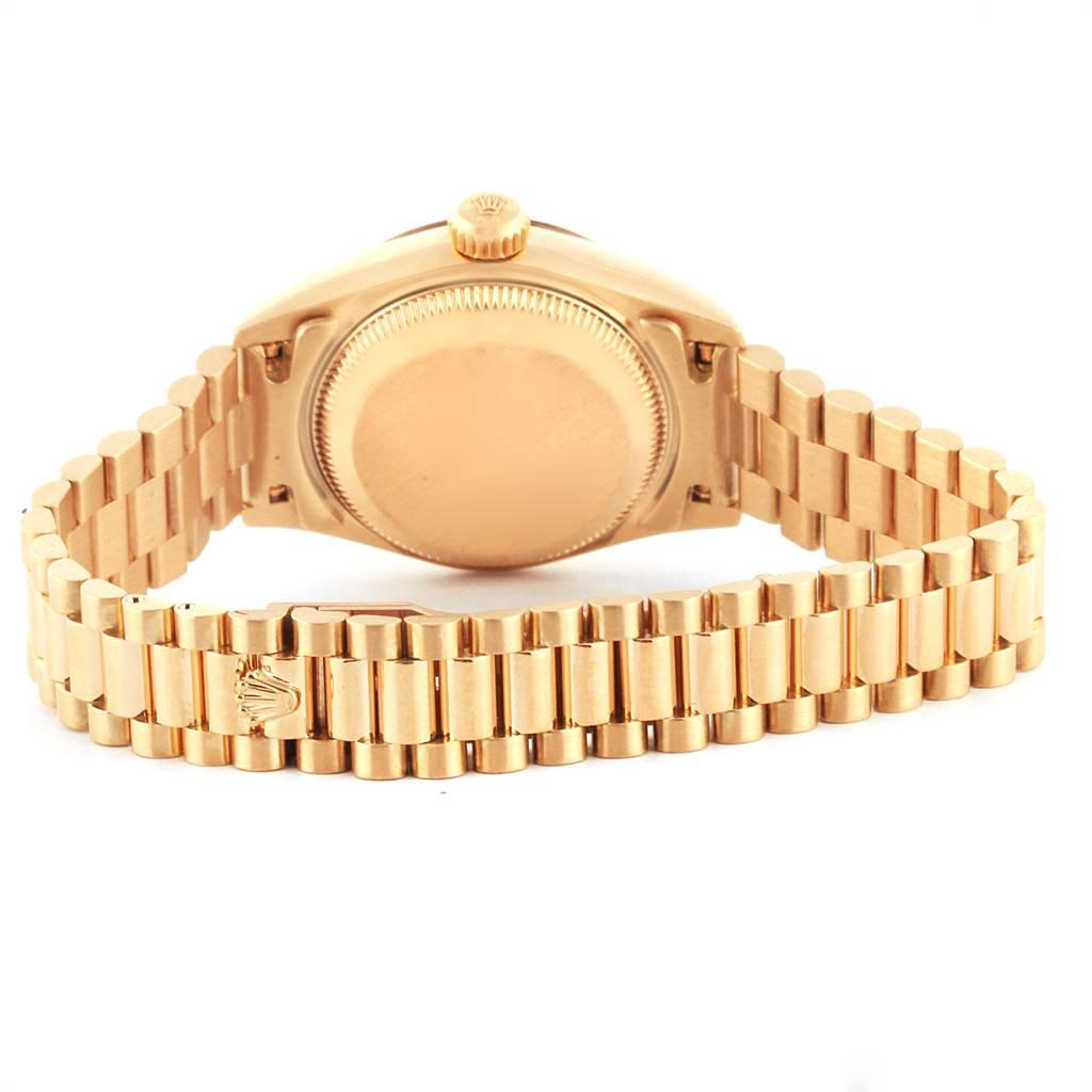 22444 Rolex President Datejust Yellow Gold Vignette Diamond Ladies Watch 79178 SwissWatchExpo