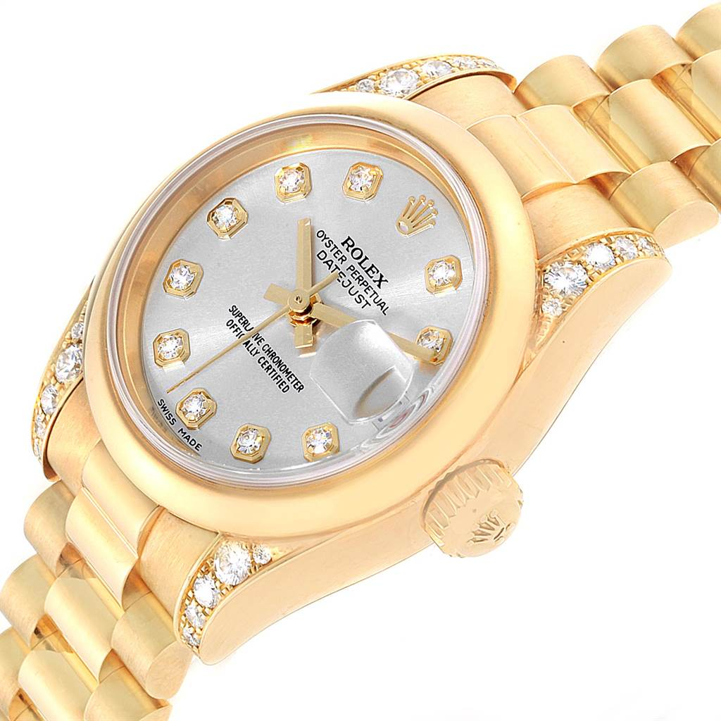 Rolex President Crown Collection 18K Yellow Gold Diamond Watch 179298 SwissWatchExpo