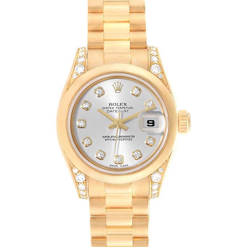 Rolex President Crown Collection 18K Yellow Gold Diamond Watch 179298 SwissWatchExpo