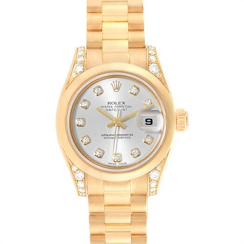 Photo of Rolex President Crown Collection 18K Yellow Gold Diamond Watch 179298
