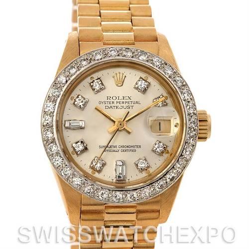 Photo of Rolex President Ladies 18k Yellow Gold Diamonds 6917