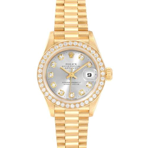Photo of Rolex President 26mm Yellow Gold Diamond Ladies Watch 69138 Box Papers