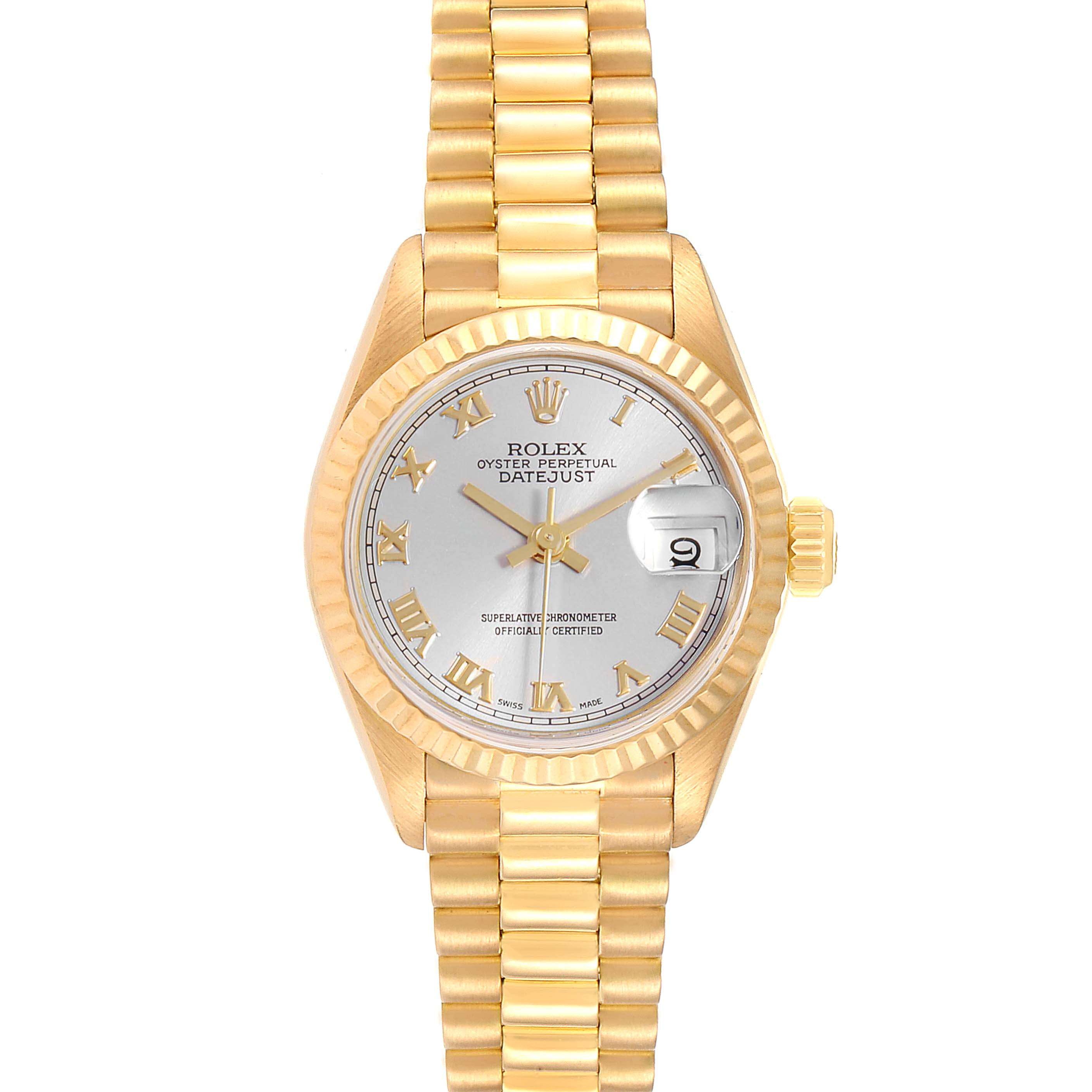 Rolex President Datejust 18K Yellow Gold 26mm Ladies Watch 69178