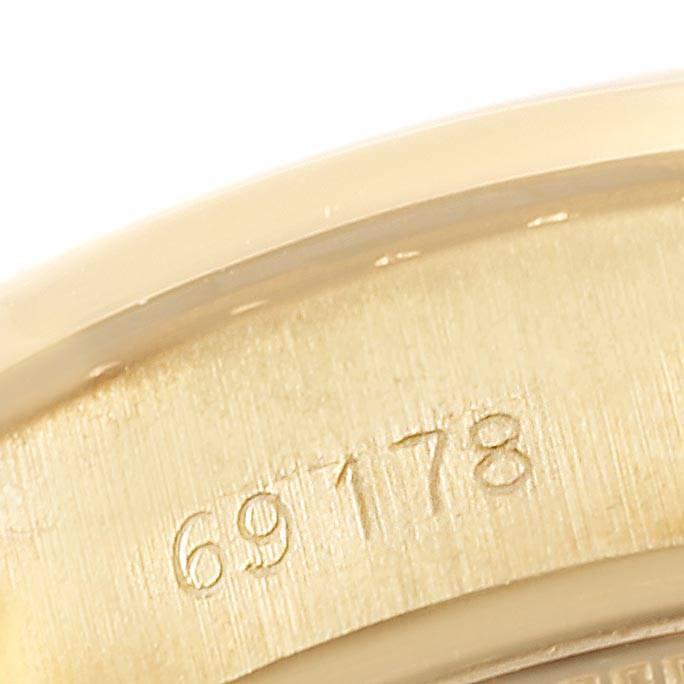 24126 Rolex President Datejust Yellow Gold Diamond Ladies Watch 69178 Box Papers SwissWatchExpo