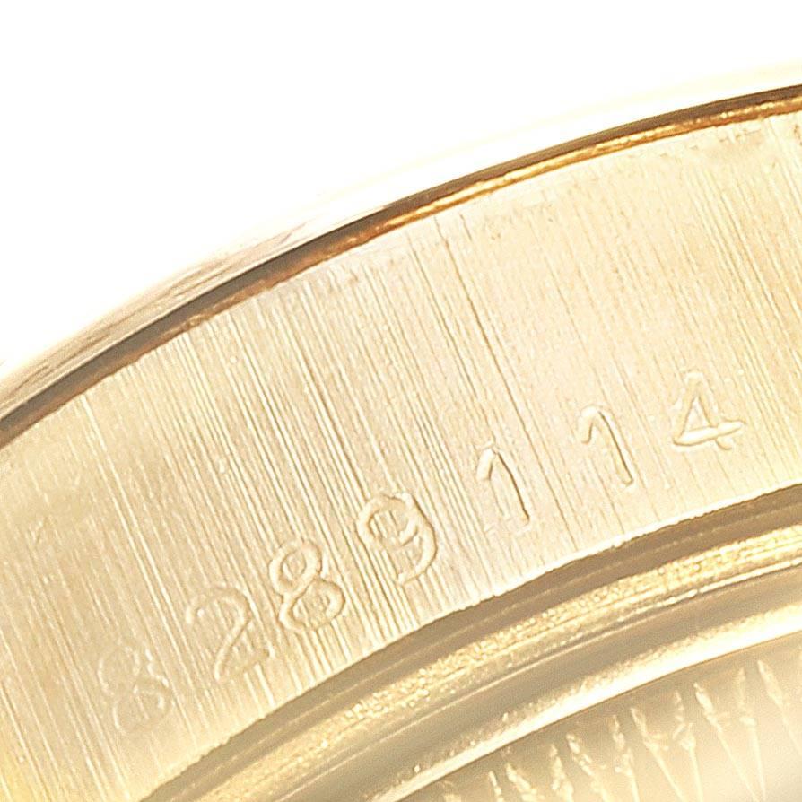 24191 Rolex President Datejust 26 Yellow Gold Blue Dial Ladies Watch 69178 SwissWatchExpo
