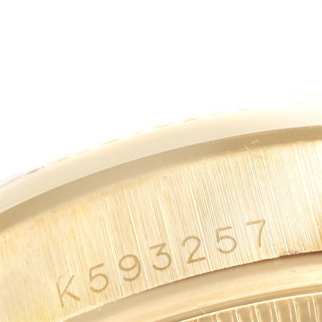 24200 Rolex President 31 Midsize Yellow Gold Diamond Ruby Ladies Watch 178158 SwissWatchExpo