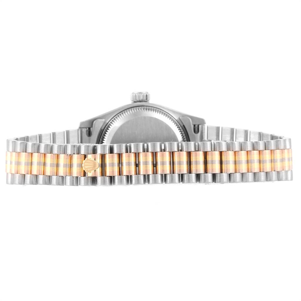 24431 Rolex President Tridor White Yellow Rose Gold Diamond Ladies Watch 69179 SwissWatchExpo