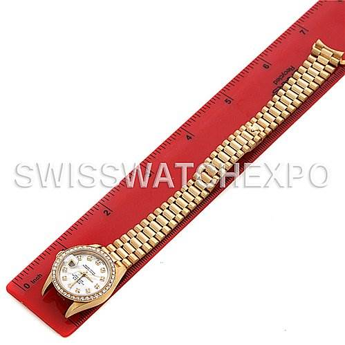 2596 Rolex President Ladies 18k Yellow Gold Diamonds 69178 SwissWatchExpo