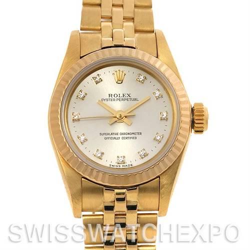 Photo of Rolex President Non-Date 14K Gold Diamond Dial 67197