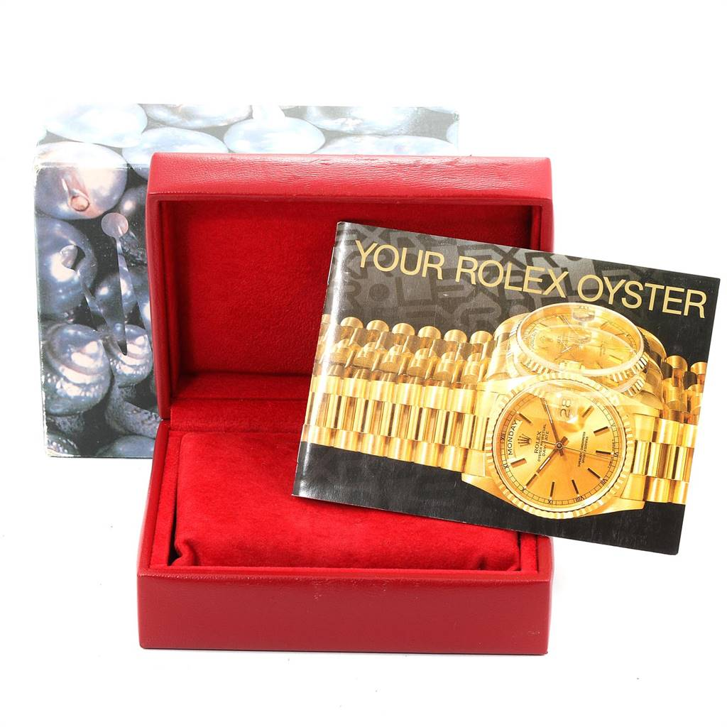 Rolex President Datejust Yellow Gold Mother of Pearl Ladies Watch 69178 SwissWatchExpo