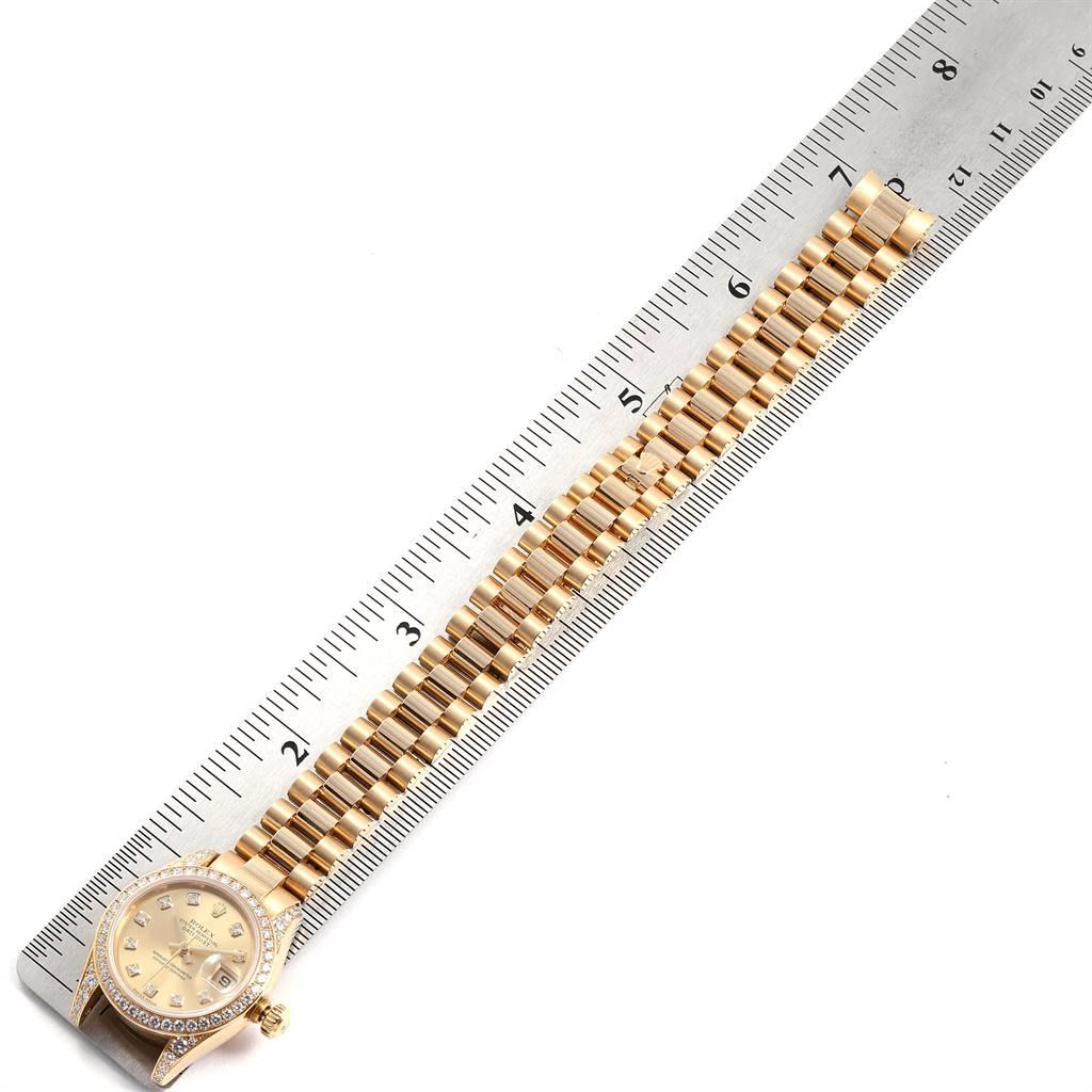 Rolex President 26 Yellow Gold Diamond Ladies Watch 179158 Box Papers SwissWatchExpo