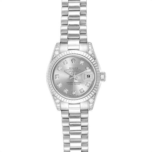 Photo of Rolex President Crown Collection White Gold Diamond Ladies Watch 179239 Box Papers
