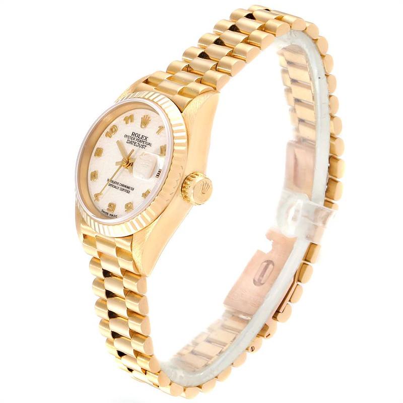 Rolex President Datejust Yellow Gold Anniversary Dial Ladies Watch 69178 SwissWatchExpo