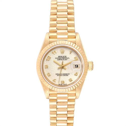 Photo of Rolex President Datejust Yellow Gold Anniversary Dial Ladies Watch 69178