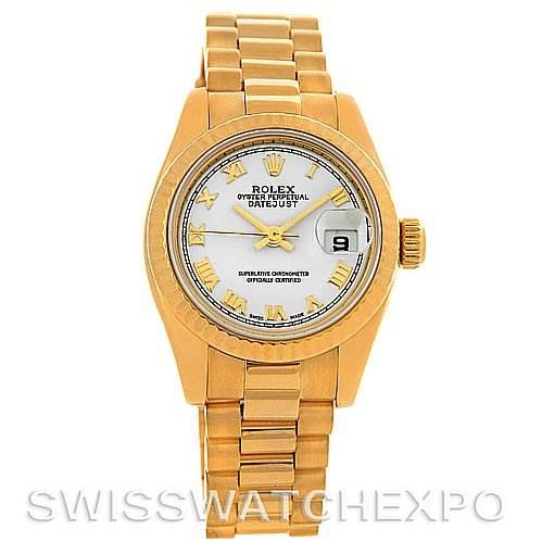2957 Rolex President Ladies 18k Yellow Gold Watch 179178 SwissWatchExpo