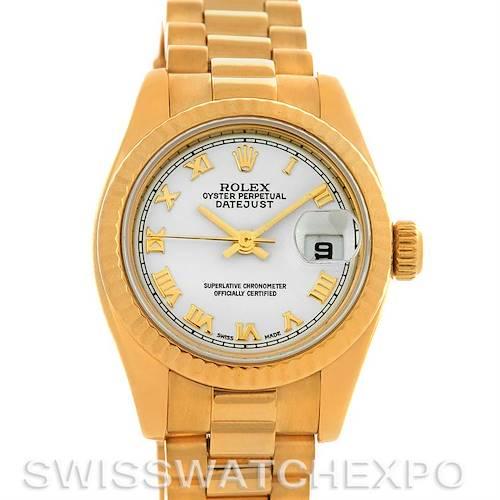 Photo of Rolex President Ladies 18k Yellow Gold Watch 179178