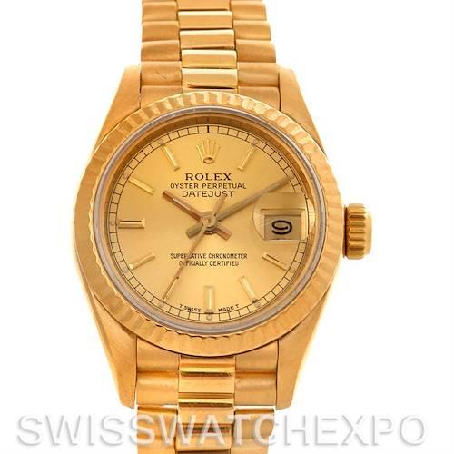 Photo of Rolex President Ladies 18k Yellow Gold Watch 69178