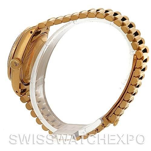 3095 Rolex President Ladies 18k Yellow Gold Diamonds 69178 SwissWatchExpo