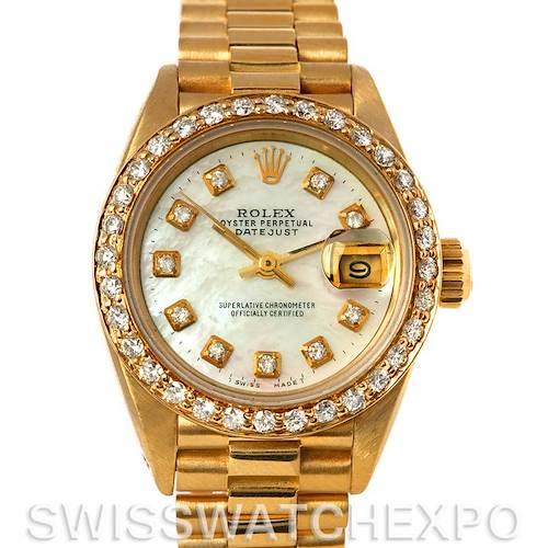 Photo of Rolex President Ladies 18k Yellow Gold Diamonds 69178