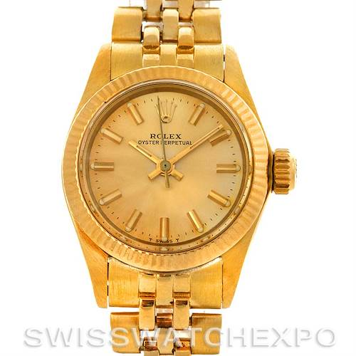 Photo of Rolex President Non-Date 18K Yellow Gold Champagne Index Dial 6719