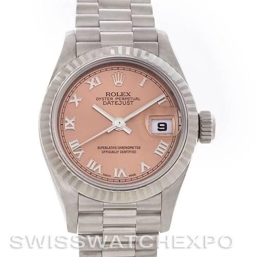 Photo of Rolex President Ladies 18k White Gold Watch 79179