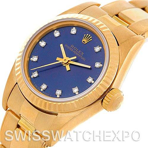 4742 Rolex Ladies18k Yellow Gold President 67198 Watch SwissWatchExpo