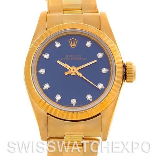 Photo of Rolex Ladies18k Yellow Gold President 67198 Watch