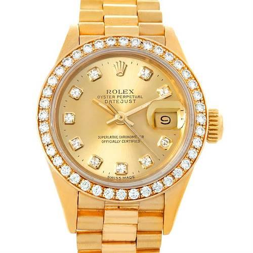 Photo of Rolex President Ladies 18k Yellow Gold Diamonds 69278