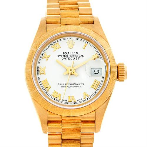 Photo of Rolex President Ladies 18k Yellow Gold Watch 69278