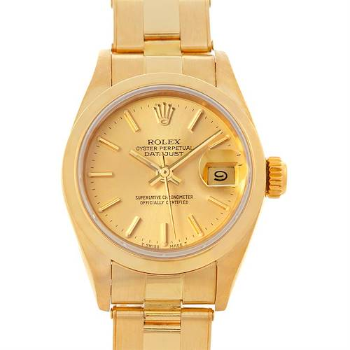 Photo of Rolex President Ladies 18k Yellow Gold Watch 69168