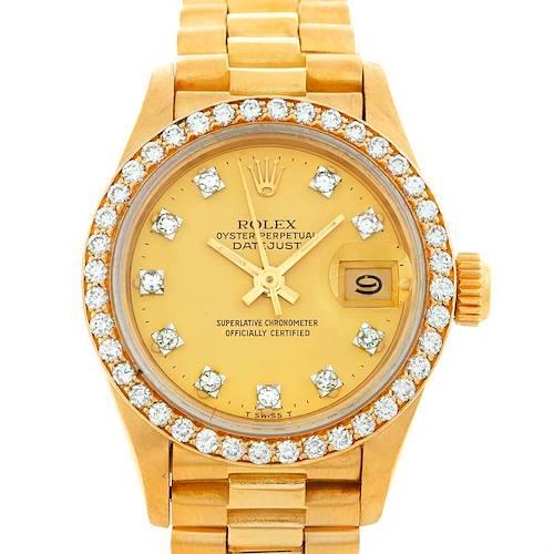 Photo of Rolex President Ladies 18k Yellow Gold Diamonds Watch 69138