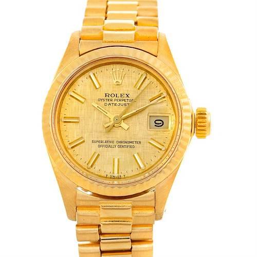 Photo of Rolex President Ladies 18k Yellow Gold Watch 6917