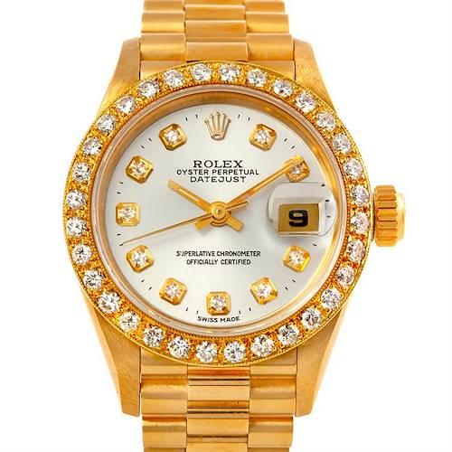 Photo of Rolex President Ladies 18k Yellow Gold Diamond Watch 69178