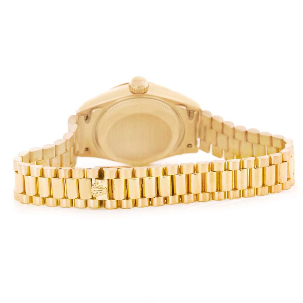 9677 Rolex President Datejust 26mm Yellow Gold Ladies Watch 69178 SwissWatchExpo