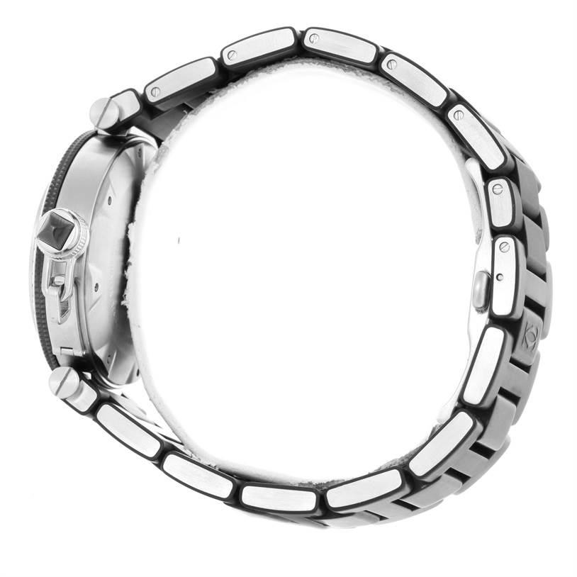 10541 Cartier Pasha Seatimer Steel Black Rubber Strap Mens Watch W31077U2 SwissWatchExpo