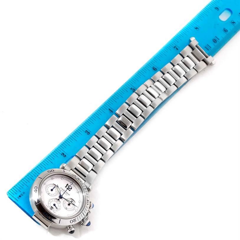 Cartier Pasha Seatimer Chronograph Steel Mens Watch W31030H3 SwissWatchExpo