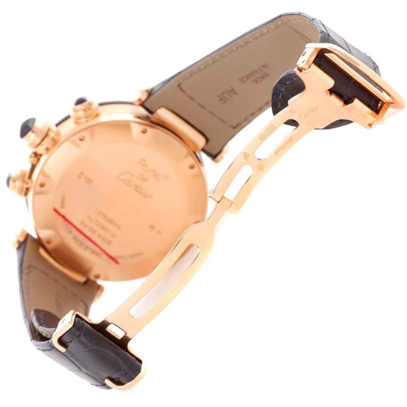 10825 Cartier Pasha 18kt Rose Gold Chronograph Mens Watch W3030018 SwissWatchExpo