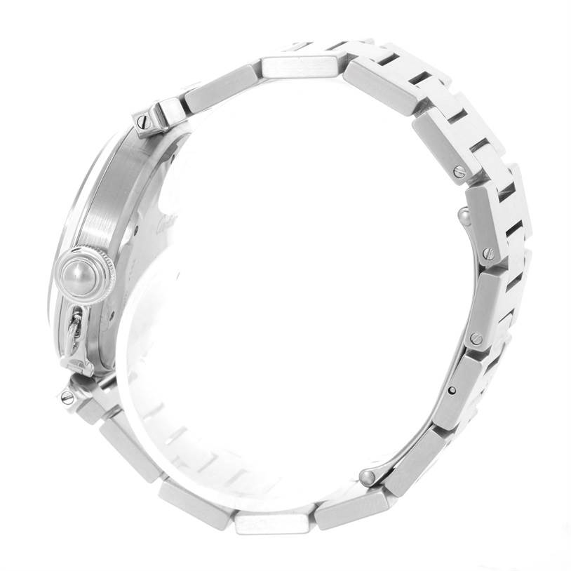 Cartier Pasha C Midsize Steel Watch White Dial W31074M7 SwissWatchExpo
