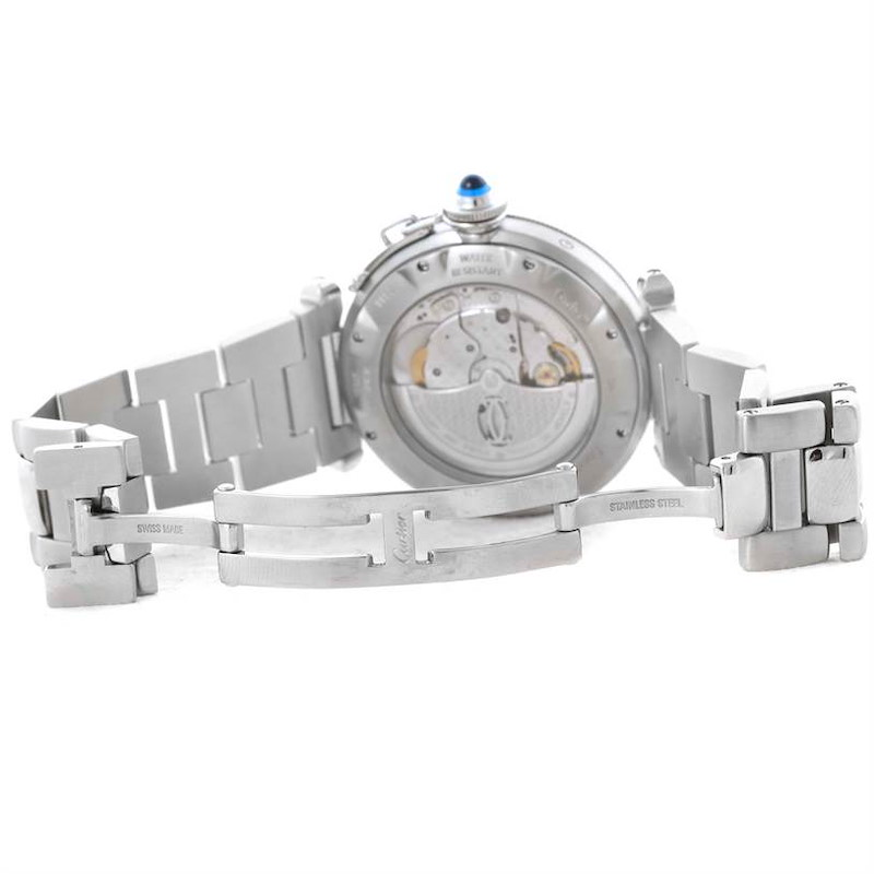 Cartier Pasha Power Reserve GMT Stainless Steel Watch W31037H3 SwissWatchExpo