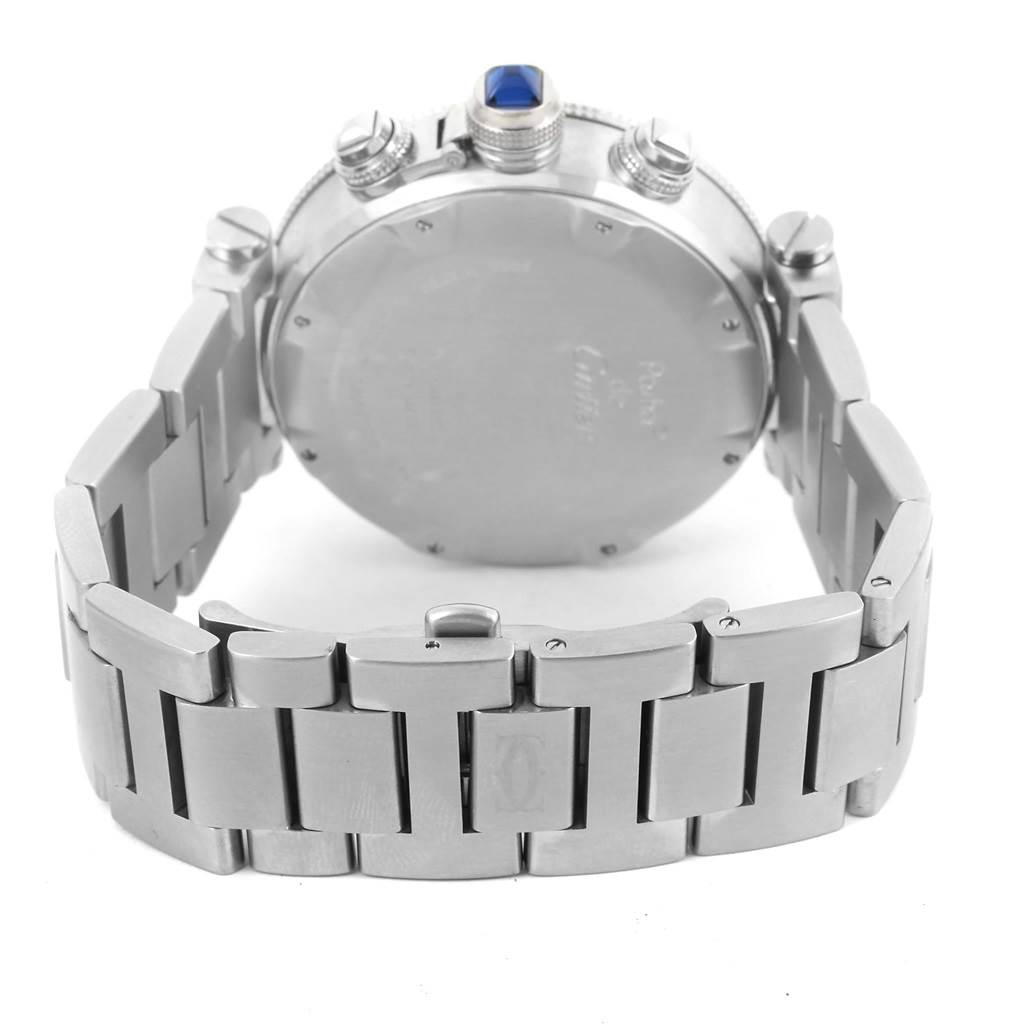 13380 Cartier Pasha Seatimer Chrono Stainless Steel Mens Watch W31089M7 SwissWatchExpo