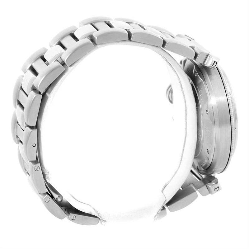 Cartier Pasha GMT Power Reserve Mens Steel Watch W31037H3 SwissWatchExpo