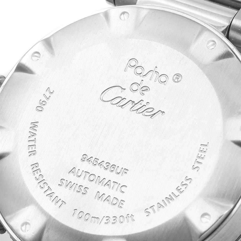 14108 Cartier Pasha Seatimer Automatic Steel Silver Dial Watch W31080M7 SwissWatchExpo