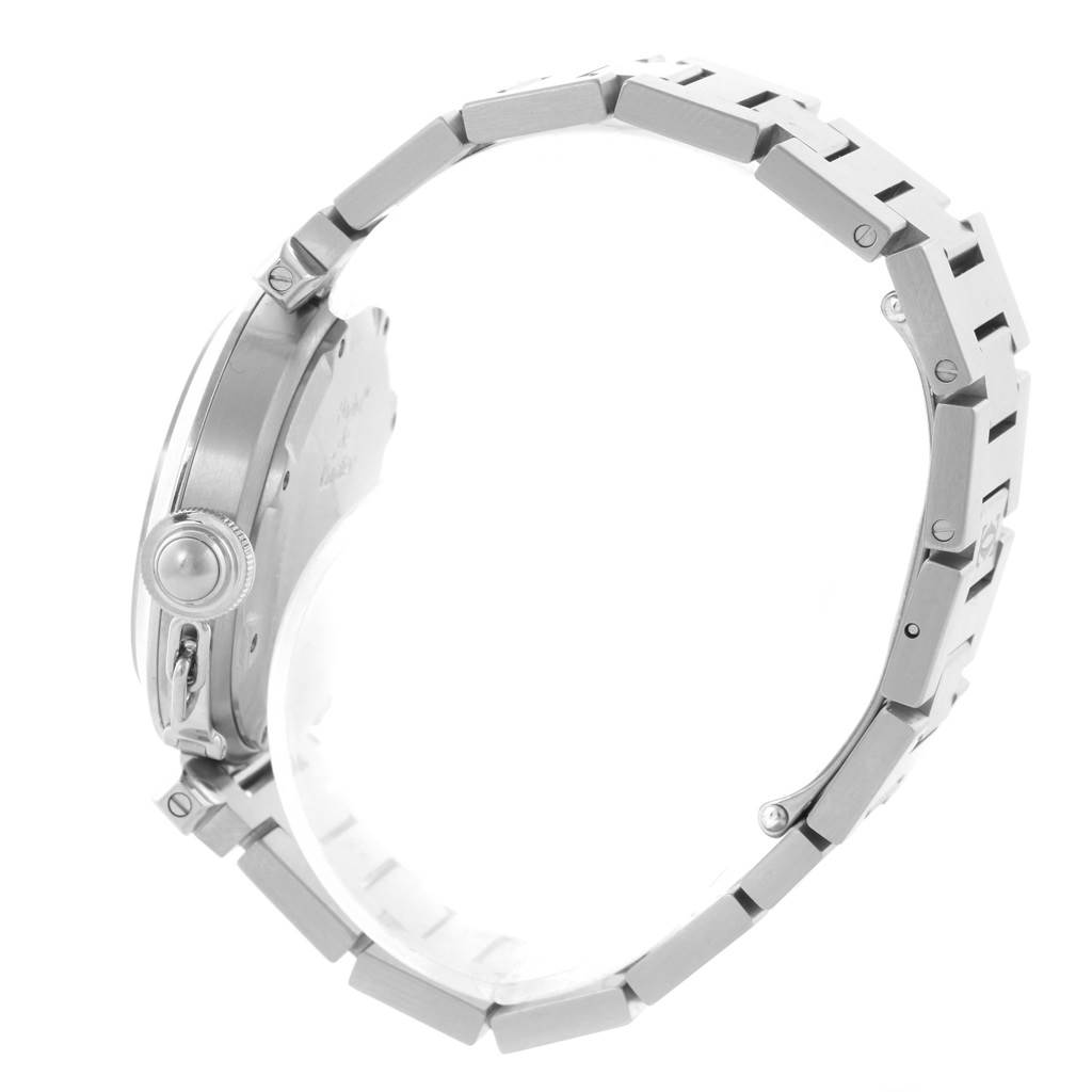 12013 Cartier Pasha C 35mm White Dial Steel Bracelet Unisex Watch W31074M7 SwissWatchExpo