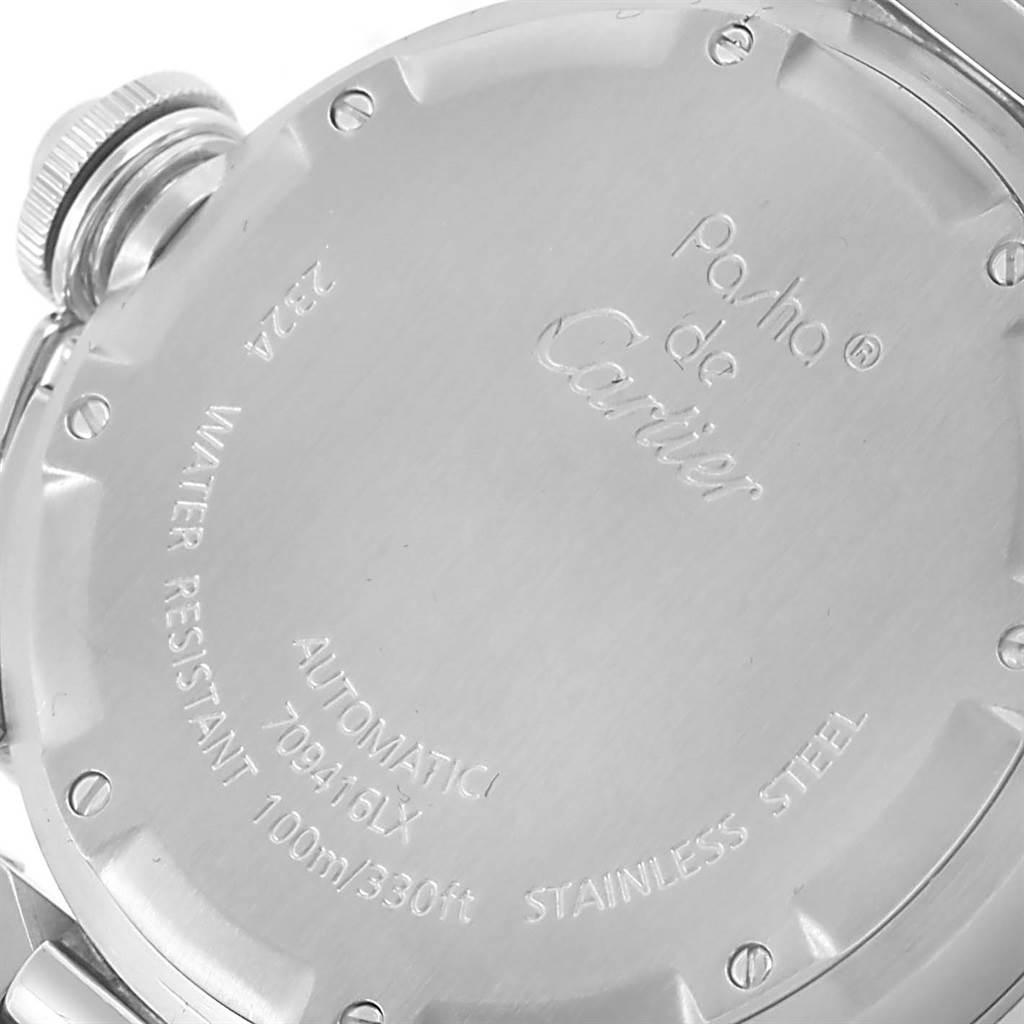 12013 Cartier Pasha C 35mm White Dial Steel Bracelet Unisex Watch W31074M7 SwissWatchExpo