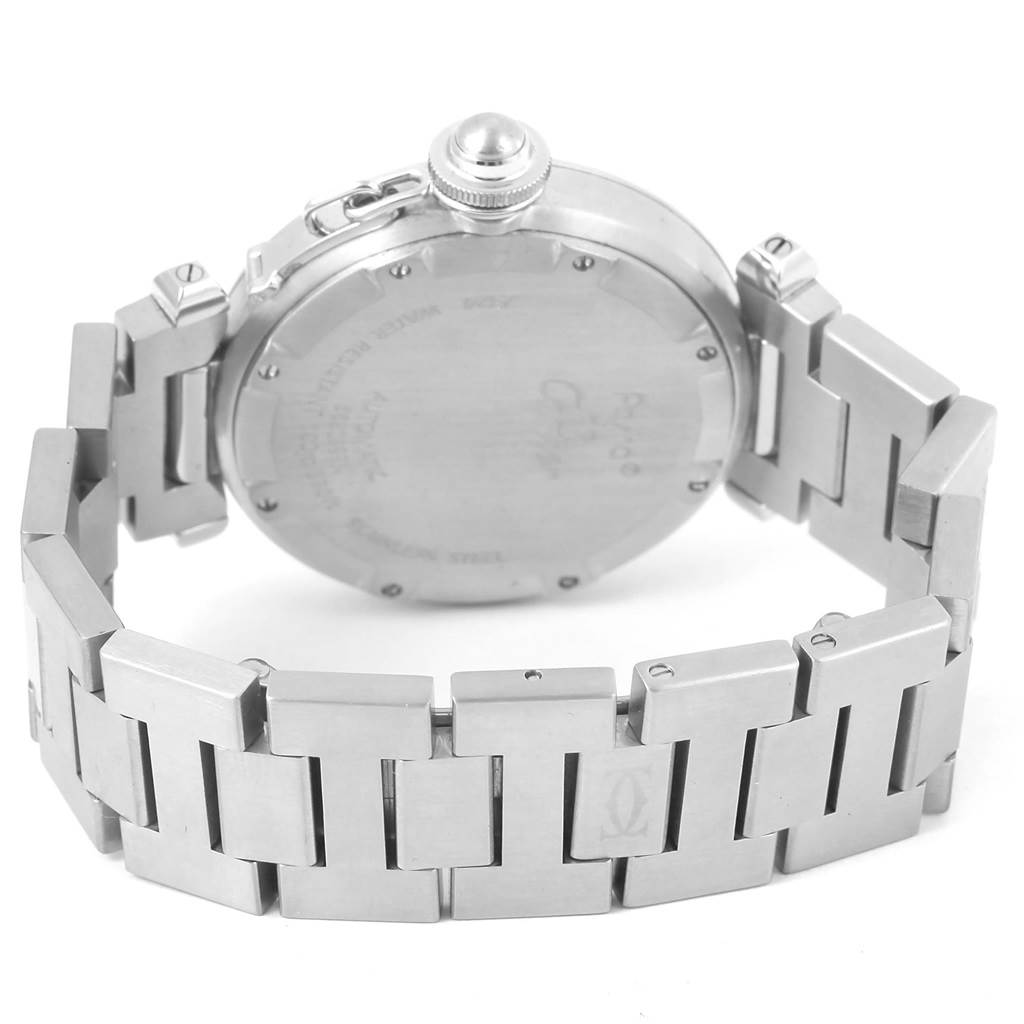 Cartier Pasha C 35mm White Dial Stainless Steel Unisex Watch W31074M7 SwissWatchExpo