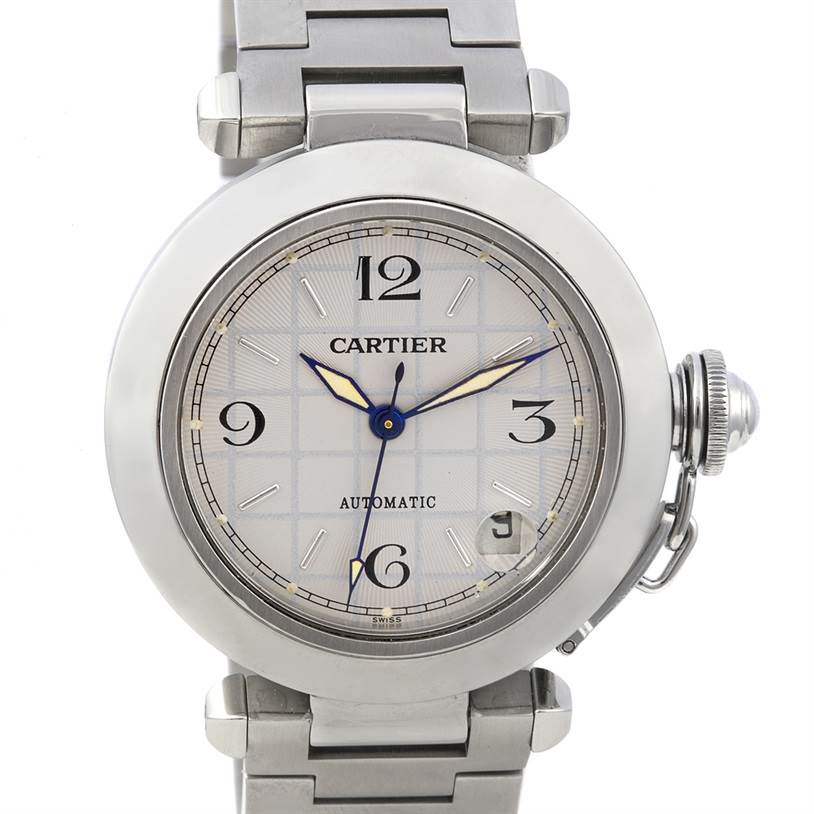 2278 Cartier Pasha C Men's Steel Watch W31023M7 SwissWatchExpo