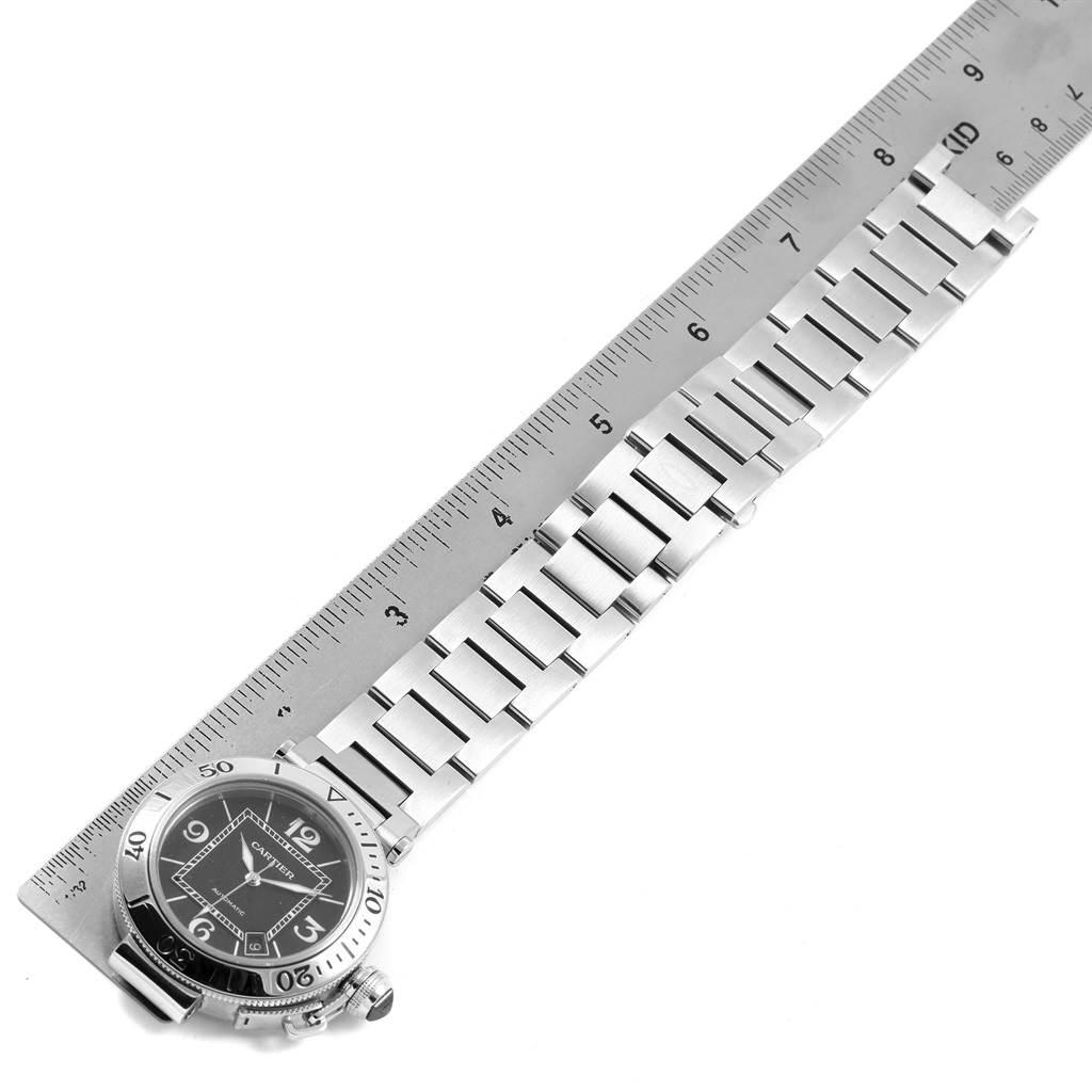 20712X Cartier Pasha Seatimer Black Dial Automatic Mens Watch W31077M7 SwissWatchExpo