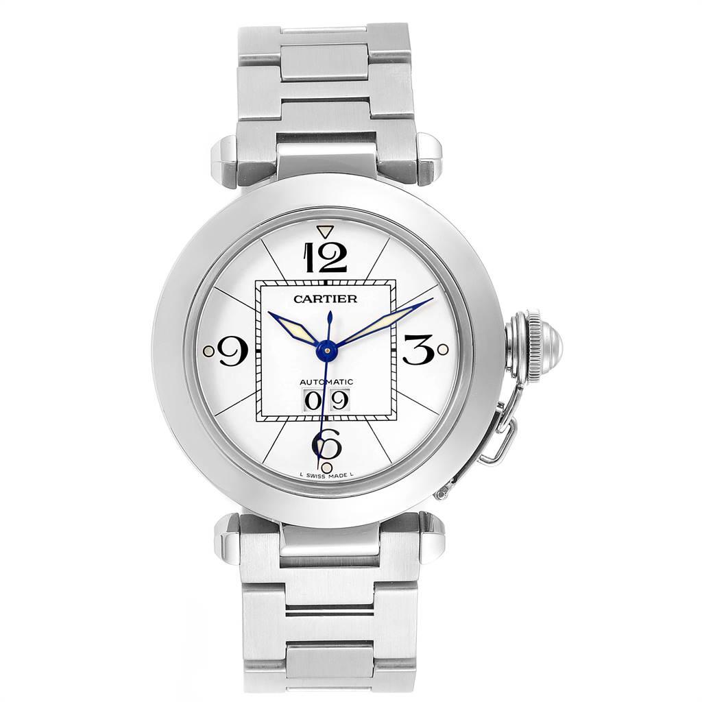Cartier Pasha C Midsize White Dial Automatic Steel Watch W31044M7 SwissWatchExpo